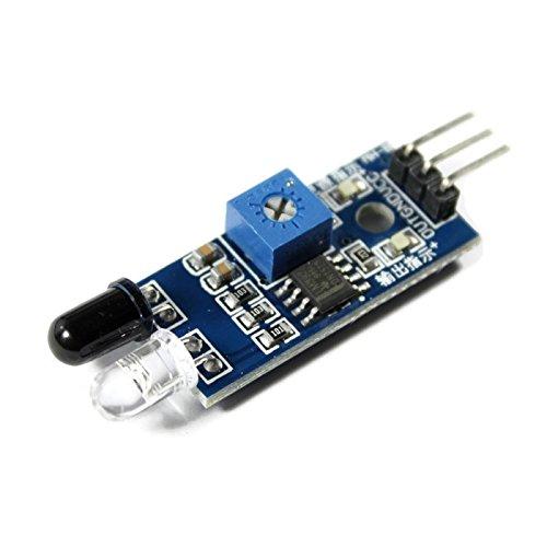 Detector de Obstáculos, Sensor de Aproximación IR para Prevención de Colisiones Ópticas con Salida digital para Arduino, Raspberry Pi, Aplicaciones Line Follower