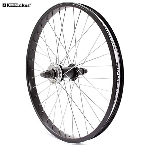 KHE BMX Hinterrad Alu Felge 36 Loch 14mm KHE Felgenband+Ritzel Made in Germany