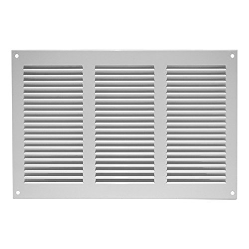 300x200mm Air Vent Grille Cover 11x8 inch White Ventilation Cover, Metal,...