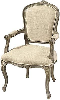 Amazon.com: Luxe muebles barroco sillón – terciopelo gris en ...