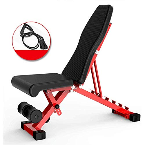 Read About AJH Multi-Function Folding Dumbbell Bench Weightlifting Gym Practical Adjustable Bed Tabl...