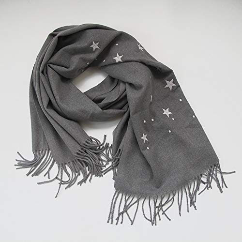 Sjaal herfst en winter sjaal sterren print sjaal romantisch patroon grote sjaal vrouwelijke effen warme sjaal