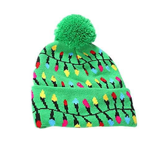 gorro de punto de navidad luminoso gorro de santa sombrero de santa gorro de punto brillante diseño flash gorro de...