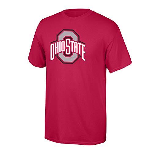 Elite Fan Shop Ohio State Buckeyes Men's T Shirt Team Color Icon, Large