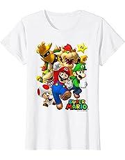 NBAOBAO Super Mario T-shirts? Super Mario Shirt 3D gedrukte korte mouwen Unisex ronde hals T-shirt voor kinderen, grappig T-shirt, zomer vrije tijd