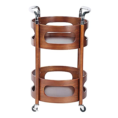 Carrito de bar Carrito de bar Madera 3 niveles Carrito de servicio de cocina con botellero Carrito de almacenamiento Ruedas con cerradura Carrito con ruedas resistente