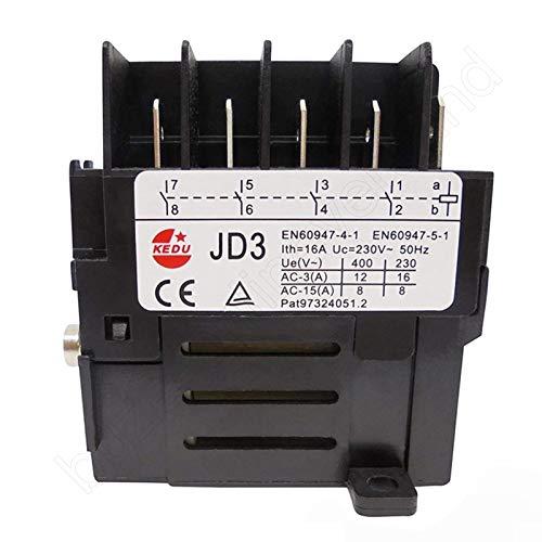 BUZE Orginal Kedu Motorschütz (Relais) Auswahl JD3 mit 4 Schließer 230V 50Hz Elektromechanische Relais