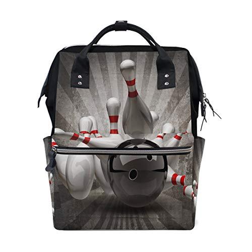 Bowlingkugel Unterhaltung Sport Große Kapazität Windel Taschen Mummy Rucksack Multi Funktionen Wickeltasche Tasche Handtasche Für Kinder Babypflege Reise Täglichen Frauen