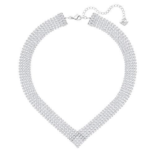 Swarovski Collana Fit, Bianco, Placcatura in Palladio
