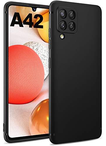 BENNALD Hülle für Samsung Galaxy A42 5G Hülle, Soft Schutzhülle Hülle Cover - Premium TPU Tasche Handyhülle für Samsung Galaxy A42 5G (Schwarz,Black)