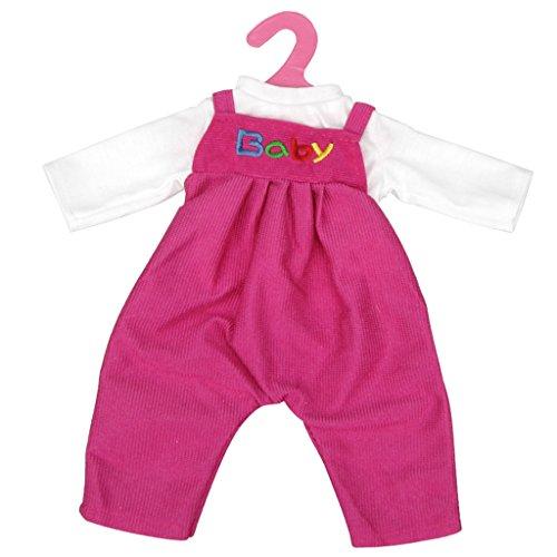 Ropa Muñecas Fashion Camiseta Guardapolvos Babero Traje para Deshilvanado Bebé - Fucsia