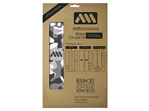 All Mountain Style Rahmenschutz Total gegen starke Schläge – Schützt Ihr Fahrrad vor Kratzern und Beulen, Klar/Camo