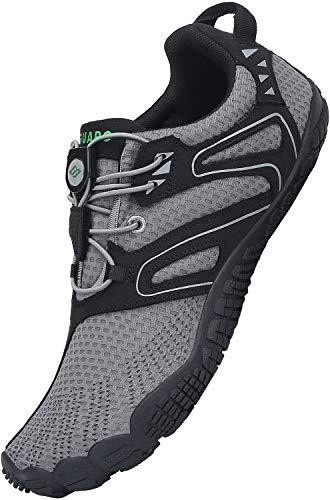 SAGUARO Mujer Zapatillas de Trail Running Hombre Antideslizante Barefoot Zapatos Zapatillas Minimalistas Outdoor & Indoor Playa Gimnasio Gym, Gris 38