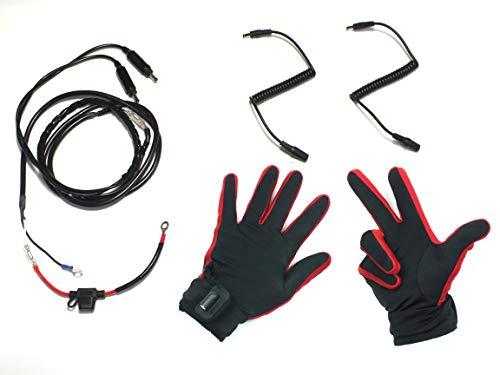 HEATKING 電熱 グローブ インナーヒーター 12�X手袋 バイク グローブ 冬 グローブ L サイズ ハンドル専用電源ハーネス付き