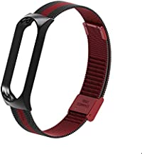 AKDSteel Mi Band 3 Wrist Strap Metal Screwless Stainless Steel for Xiaomi Mi Band 3 Strap Bracelet Miband 3 Wristbands Pulseira Miband3 Black red
