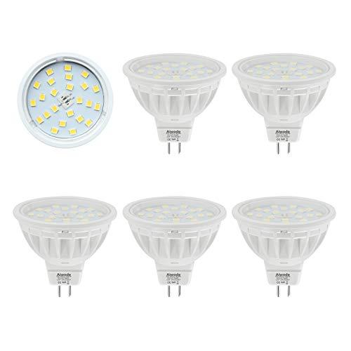 Aiwode MR16 LED Lampe Gu5.3 Scheinwerfer,Naturweiß 4000K,5W Ersetzt 50W Halogenlampe,DC12V 120°Abstrahlwinkel 600LM RA85, 5er Pack.