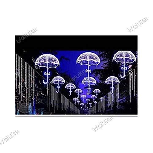 FICI Outdoor paraplu met stand Verlichting Festival met Paraplu Stand Verlichting IJzeren Ambachten LED Droom Licht Decoratie