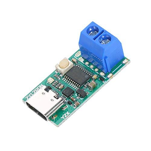 Festnight USB-C PD2.0/3.0 zu DC-Wandler Netzteilmodul Lockvogel Schnellladung Trigger Poll Polling Detector Tester Konvertieren des Laptop-Netzteils in Typ C.