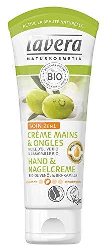 lavera Hand & Nagelcreme 2in1 Pflege ∙ Bio Olivenöl & Bio Kamille ∙ Handcreme zieht schnell ein ∙ vegan ✔ Bio ✔ Natural & innovative Hand Care ✔ Naturkosmetik 1er Pack (1 x 75ml)