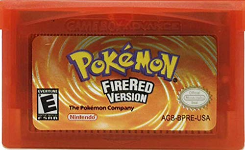 Pokemon Fire Red Version Reproduction Catridge Only in Clear Case replica Game [Gameboy Advance] (USA)