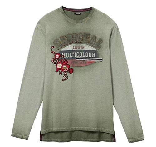 Desigual Camiseta de manga larga EPIDO 19WMTK48/4055 verde S