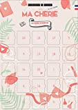 Adventskalender 'Meine CHERIE - 25 Liebesgutscheine für die Frau - Paar-Kalender zum Teilen als Paar - Adventskalender vorne oder nach für Erwachsene - Französisch