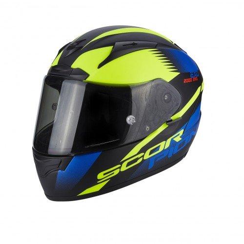 Scorpion Casco moto EXO-2000 EVO AIR Volcano Nero-Blu-Neon Giallo S
