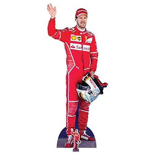 Star Cutouts Ltd Sebastian Vettel Red, Pappe, Mehrfarbig, 183 x 77 x 183 cm