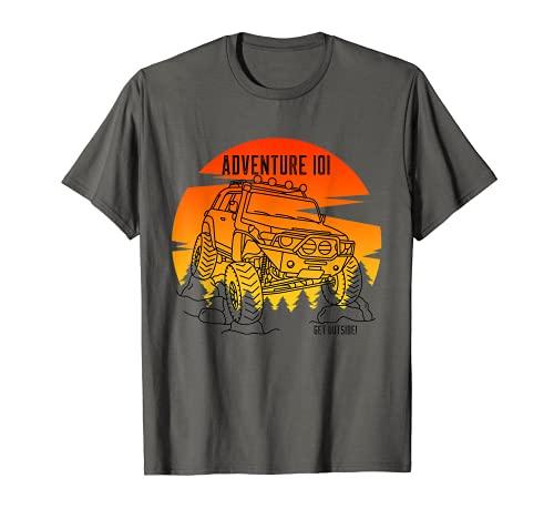 Adventure 101 Sundown in the woods FJクルーザー。 Tシャツ