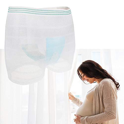 5 STÜCKE Inkontinenz Briefs Waschbar Hosen Reise Höschen Höschen für Mann oder Frauen Mesh Postpartale Unterwäsche für Schwangerschaft, Inkontinenz(X-Large)
