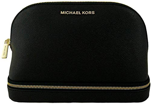 Michael Kors Large Multifunctional Aspen Colorado PVC Logo Patch and Leather Travel Pouch (Black)