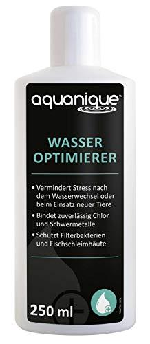 AQUANIQUE Wasseroptimierer 250 ml, Wasseraufbereiter Aquarium, Perfekt bei Wasserwechsel in Aquarien, bereitet Wasser artgerecht auf, Aquarienpflege