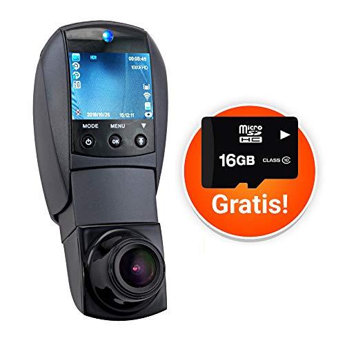 Smak | Auto Sicherheit Dachcam Überwachungskamera Videokamera | Mit Frontkamera Rückfahrkamera | Bewegungserkennung Bewegungsmelder Aufzeichnung | Befestigungen mit Halterung | Für alle Smartphones