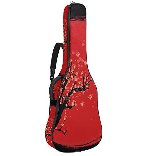 Bolsa de guitarra eléctrica de rendimiento bolsa gruesa mochila impresión suave funda...