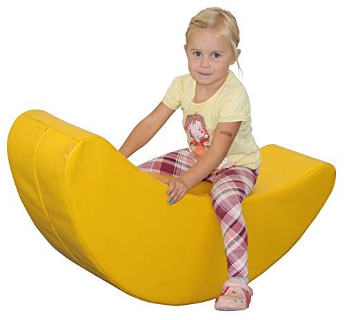 KL-Toys Schaukelmond / Material: innen: PE-Schaum, außen: Kunstleder,Latex / Maße: 110x24x32 cm / Made in Germany / für Kinder ab 3 Jahren geeignet