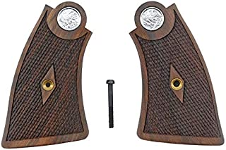 Checkered Walnut Square Butt Grips Compatible with Smith & Wesson 1917