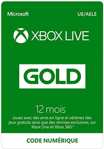 Abonnement Xbox Live Gold 12 mois | Code jeu à télécharger