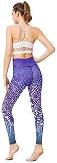 Yoga pants Women Printed Yoga Pants Sport Workout Running Leggings Power Flex Yoga Leggings Blue Whirlpool JFYCUICAN (Colo...