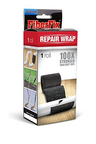 FiberFix Repair Wrap - Permanent Waterproof Repair Tape 100x Stronger than Duct Tape 2' (1 Roll)