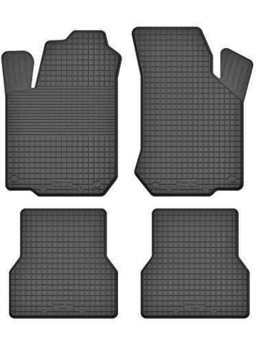 KO-RUBBERMAT Gummimatten Fußmatten 1.5 cm Rand geeignet zur VW Lupo (Bj. 1998-2005) ideal angepasst 4 -Teile EIN Set