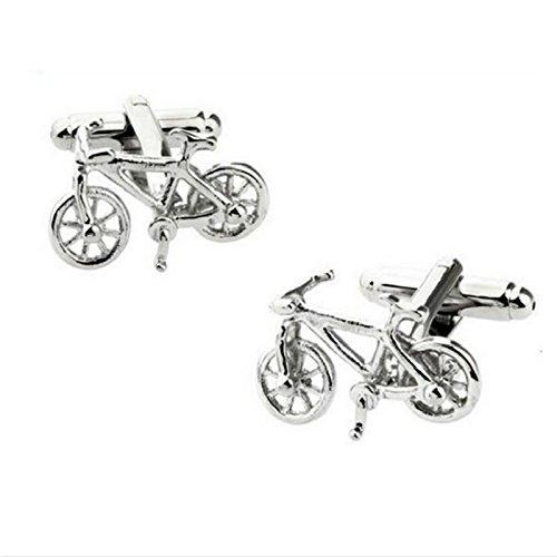 Da.Wa 1 par de Clip de Corbata Gemelos de Bicicleta de Plata...