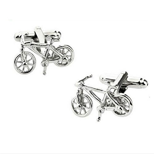 Da.Wa 1 par de Clip de Corbata Gemelos de Bicicleta de Plata ...