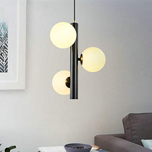 SXFYWYM Glass Chandelier Simple Modern Ball Chandeliers Creative for Dining Room Bar Small Pendant Light Lighting