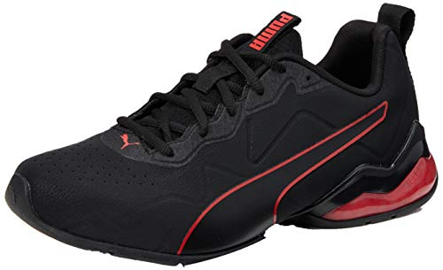 PUMA Cell Valiant SL, Scarpe da Corsa Uomo, Nero Black-High Risk Red, 47 EU