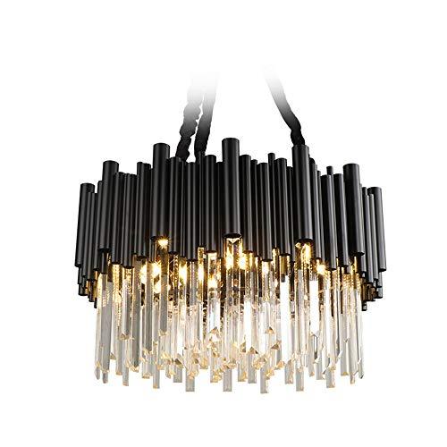 Luce Plafoniera Cm60cm Lámpara de cristal de lujo con luz posmoderna Creativo Salón negro Restaurante Personalidad Lámparas nórdicas simples de estilo Hong Kong