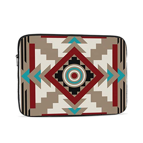 Southwestern Inspired Earth Tones 13 Inch Laptop Sleeve Bag Compatible with 13.3' Old MacBook Air (A1466 A1369) Notebook Computer Protective Case Cover
