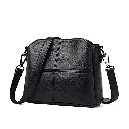 Shoulder Bags Cross-Body Bags Three Layers Of Soft Leather Bucket Small Bag Korean Version Of The Simple Atmosphere Single-Shoulder Oblique Stilettos Leisure 22 X 11 X 16Cm