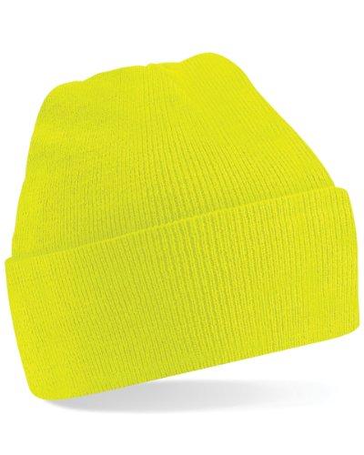 Beechfield Turn-up Beanie Gorra de béisbol, Amarillo (Fluorescent Yellow 000), Talla única...