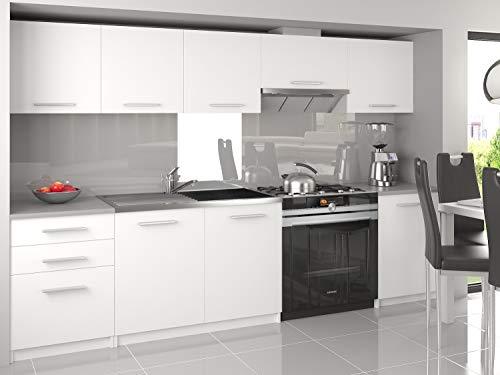 Tarraco Comercial Muebles de Cocina Completa Unica Blanco 240 cm