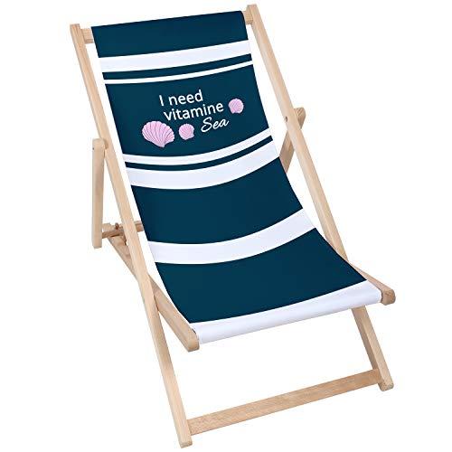 Modern hardhout zon ligstoelen gepolsterde vouwen houten tuin Adirondack stoel PATIO SEASIDE traditionele vouwen hardhout tuin strand dek stoelen strand outdoor reis stoel houten klapstoelen NATUURAL